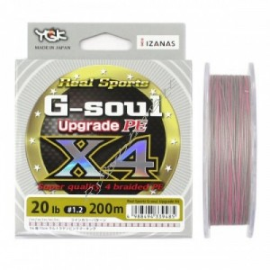 Шнур YGK G-Soul X4 Upgrade 200m #1.2/20lb к:сірий