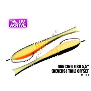"Поролонка 103 Dancing Fish 5,5"",(reverse tail) offset, Профмонтаж"