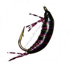 Мормышка STRIKE имитация рачка бокоплава UV Shrimp 3D - Black [Черная] (#14, 0,35г, 1см)
