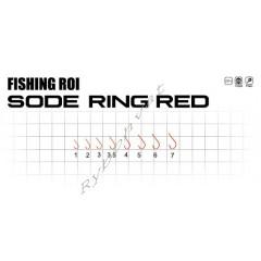 Крючки Fishing ROI sode-ring №2 red (уп15шт)