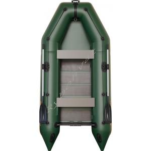 Човен надувний  Колібрі КМ-330, зелений, (у комплекті)