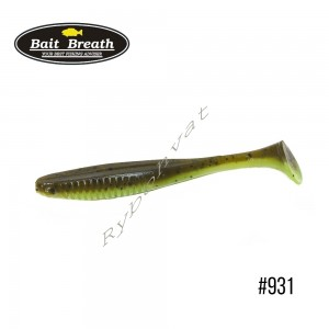 "Приманка  Bait Breath E.T.Shad 2,8"" (8 шт) (931 Greenpumpkin/Chart (2 tone color))"
