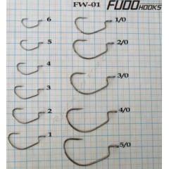 Крючки FUDO WORM FW-01 FN BN 7801 1/0 (7шт)