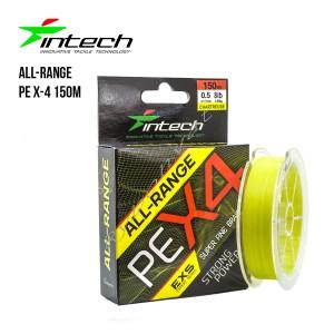 Шнур плетеный Intech All-Range PE X-4 150m (1.0 (14lb / 6.36kg))