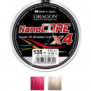 Шнур Dragon NanoCORE X4 135m 0.06mm 4.90kg Серый /Momoi