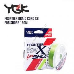 Шнур плетеный YGK Frontier Braid Cord X8 for Shore 150m (1.0 (16lb / 7.26kg))