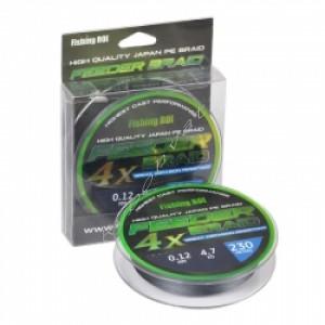 Шнур плетеный Fishing ROI Feeder Braid 4PE 230м 0.15mm black