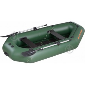 Човен надувний  Колібрі К-220 зелений, з пайол слань-килимок, коричневий
