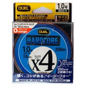 Шнур Duel Hardcore X4 200m 0.153mm 6.4kg Multicolor #0.8