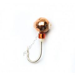 Мормышка Intech Ice Jig Шарик грань с отверстием (кембрик+бисер) ø3.0  (#03 медь)