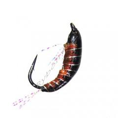 Мормышка STRIKE имитация рачка бокоплава Woven Shrimp - Black [Черный] (#12, 0,45г ,1,2см)