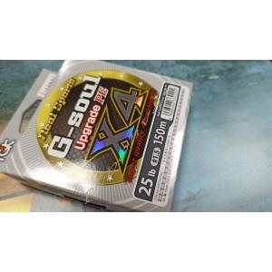 Шнур YGK G-Soul X4 Upgrade 150m #1.5/25lb ц:серый
