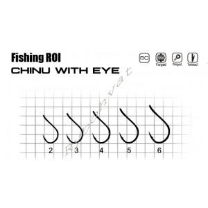 """Крючки """"Fishing ROI"""" Chinu with Eye №3 (уп.10шт)"""