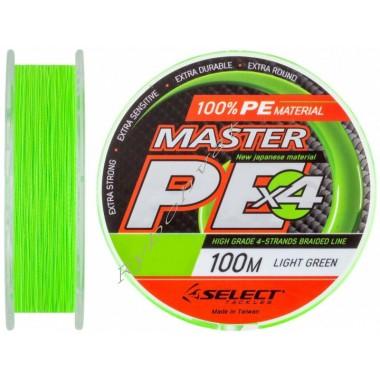 Шнур Select Master PE 100m 0.20мм 24кг салат.